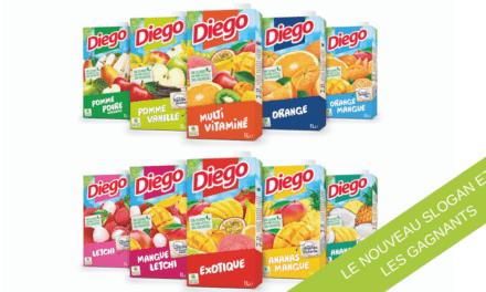Choisissez le nouveau slogan de DIEGO et gagnez un beau cadeau de Noël !