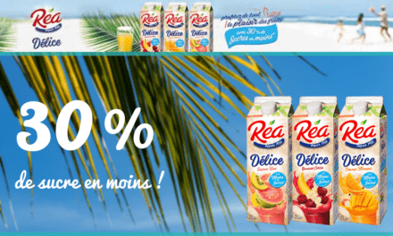 Nouveau : REA Délice, 30% de sucre en moins !